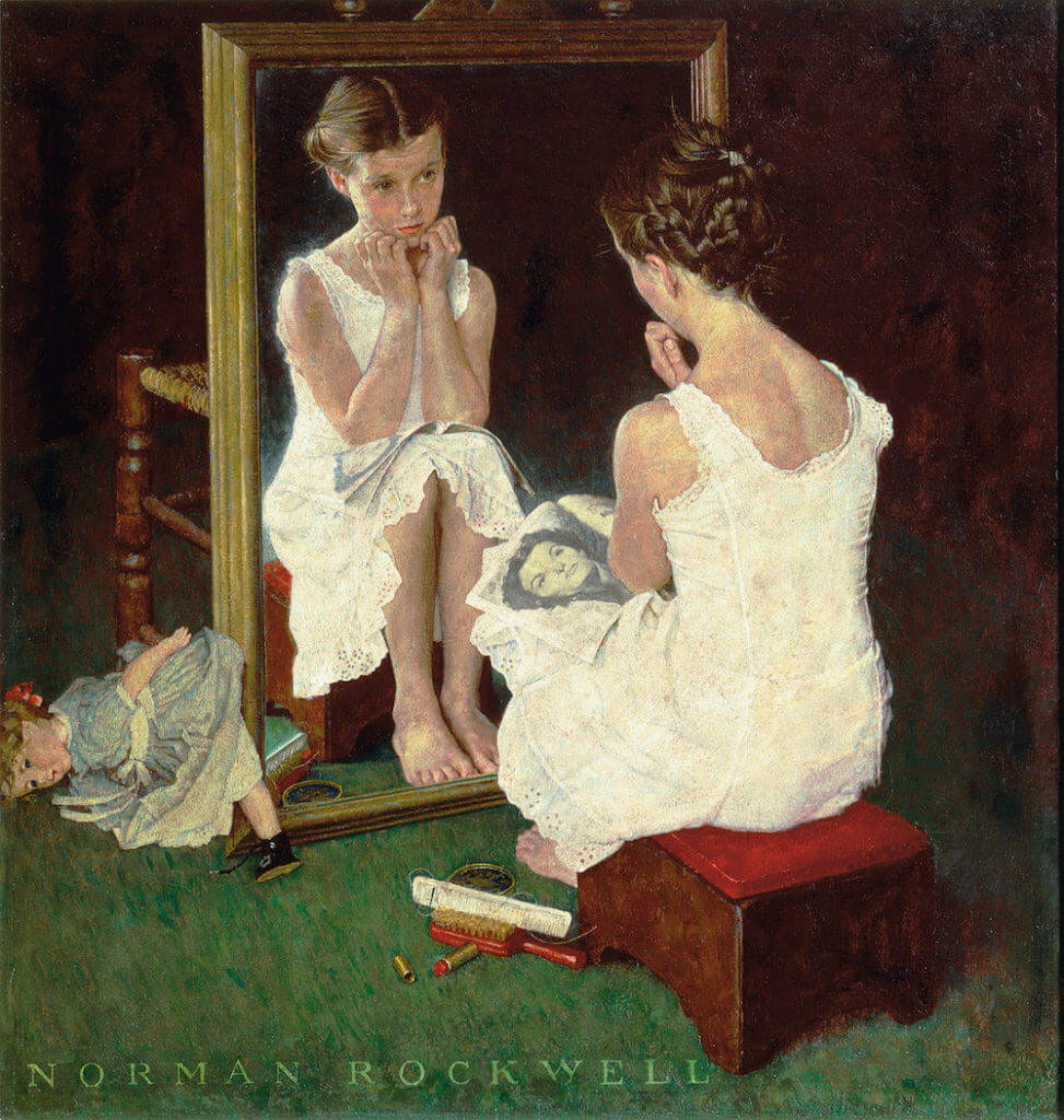 Norman Rockwell, Girl at Mirror