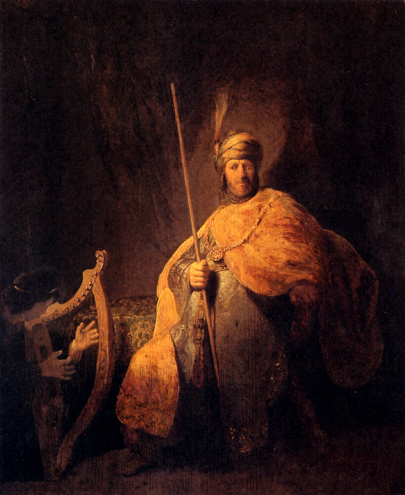 Rembrandt-David-Playing-the-Harp-for-Saul